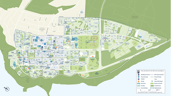 Campus landscape map