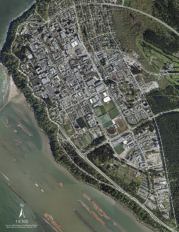 UBC orthophoto aerial map