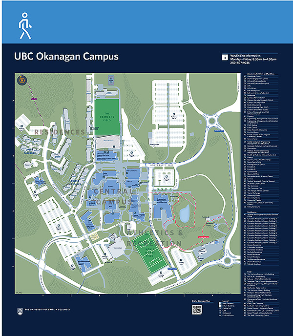 UBC Okanagan arrival sign