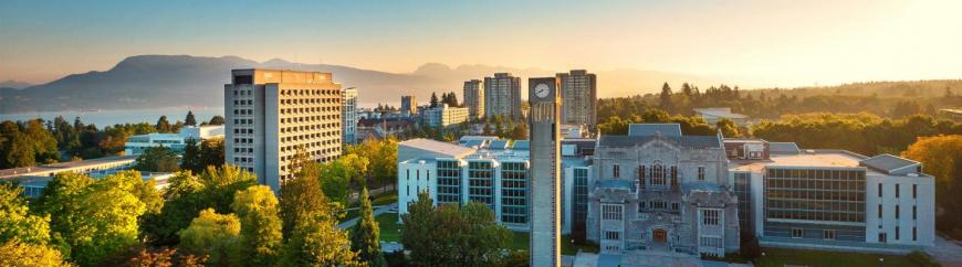 Aerial view of UBC campus