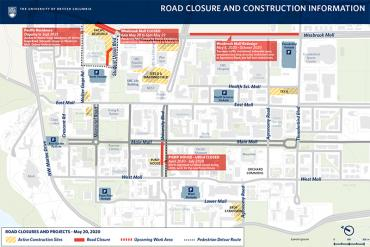 Construction and detours map