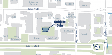 map showing where the student centre is