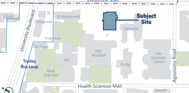 map showing the brain health centre