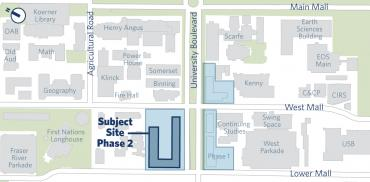 map showing ponderosa commons phase 2